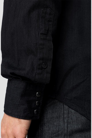 ID20401-Replay Black Denim Shirt