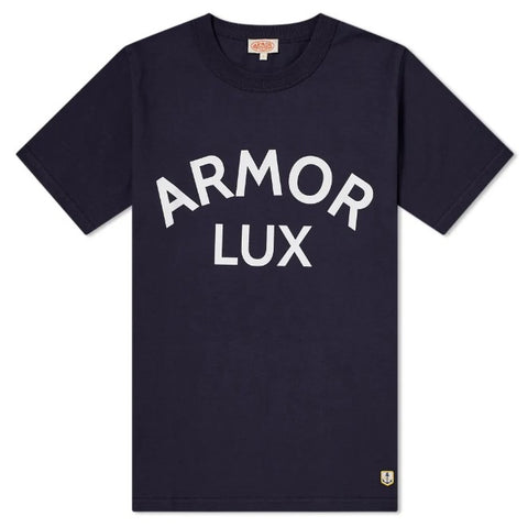 ID10082-Armor Lux Logo Navy T-Shirt