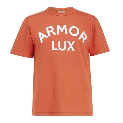 ID10084-Armor Lux Orange Logo T-Shirt