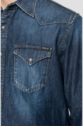 ID20400-Replay Denim Shirt
