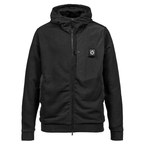 Mastrum Jet Black Hooded Sweatshirt