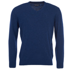 ID8068-Barbour Blue Essential V-Neck