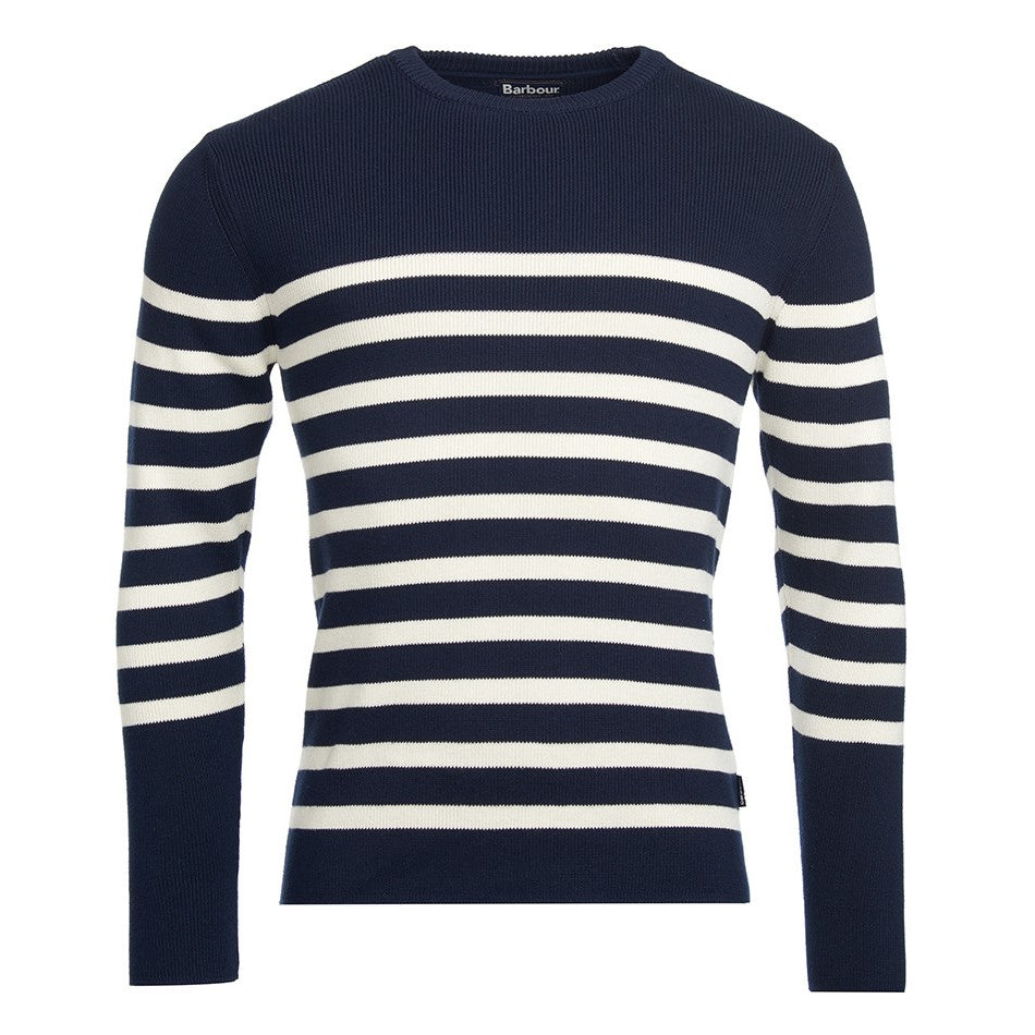 ID5270-Barbour Ballam Stripe Navy Knitwear