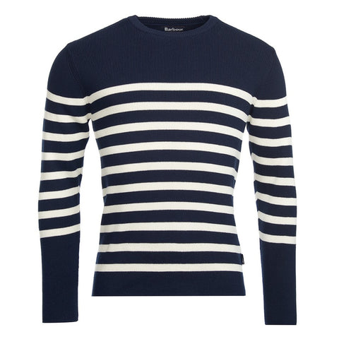 Barbour Ballam Stripe Navy Knitwear-5270