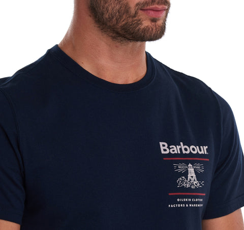ID8081-Barbour Navy Reed T-Shirt