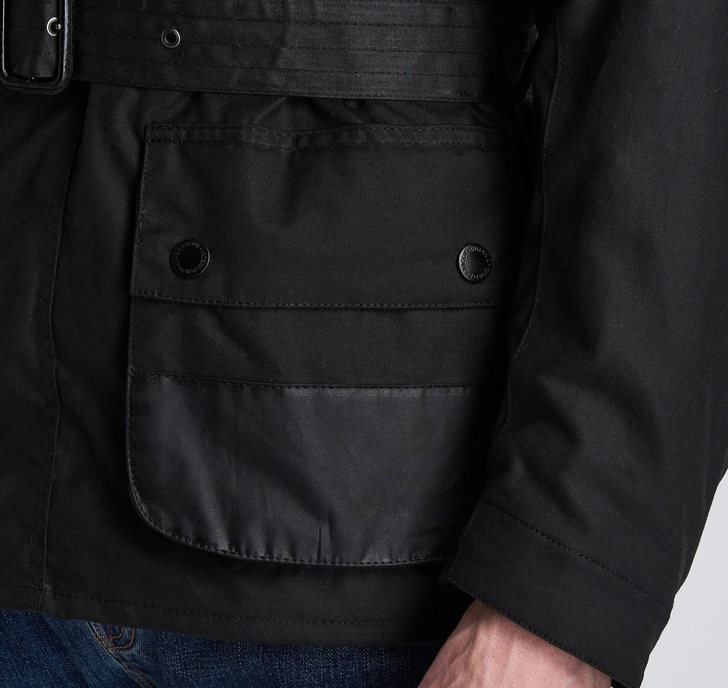 Barbour Icon Black International Jacket 8053
