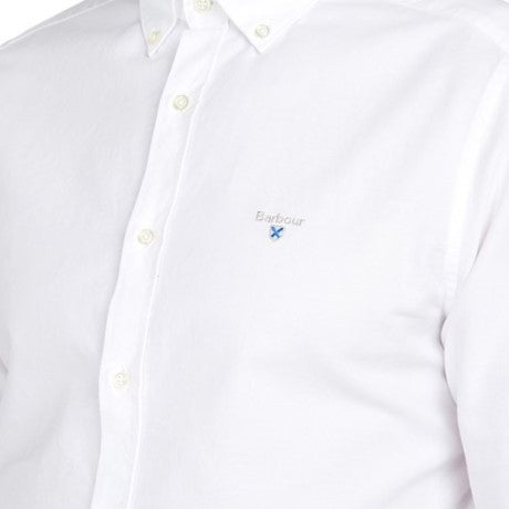 ID20050-Barbour White Oxford Shirt