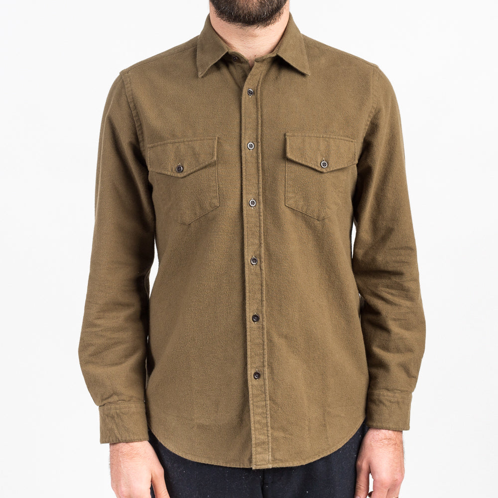 Portuguese Flannel Campo Olive Shirt