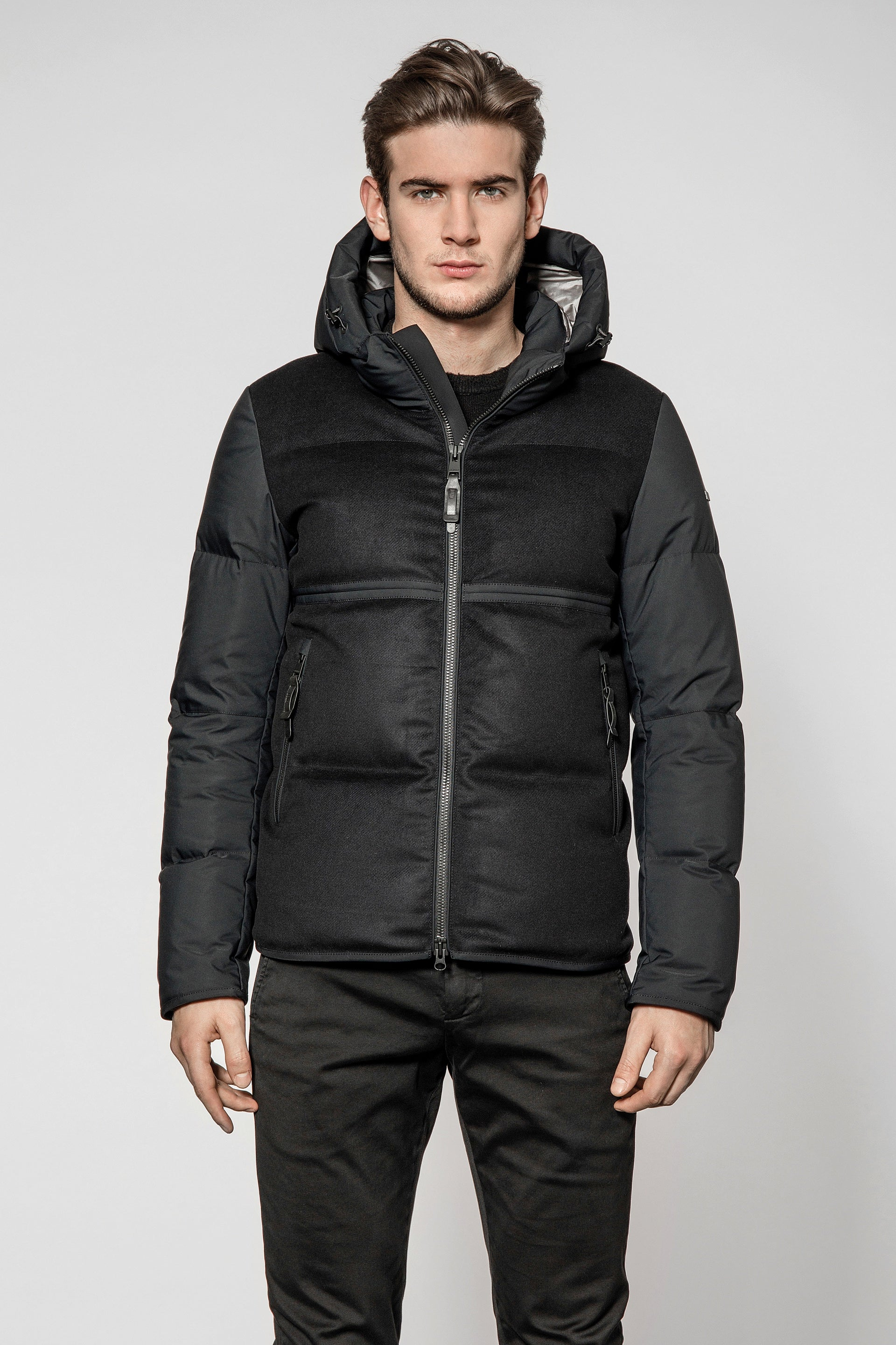 Duno Black Palm  Puffa Coat