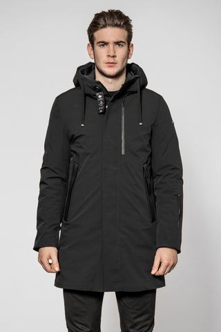 ID8181-Duno Planet Black Overcoat