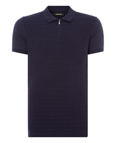 Remus Uomo Knit Navy Polo-Shirt