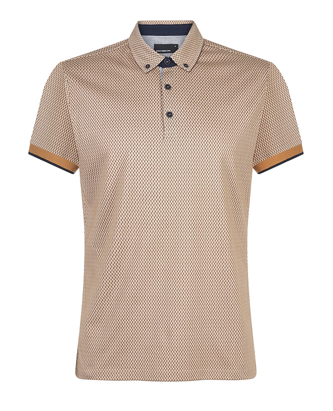 Remus Uomo Yellow Dash Polo 7175