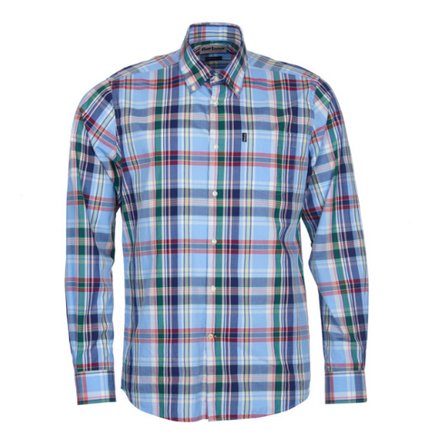 ID5269-Barbour Blue Jeff Check Shirt