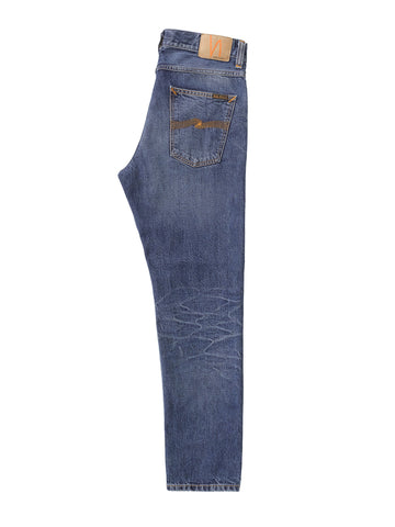ID7041-Nudie Steady Eddie II Mid Worn Jeans