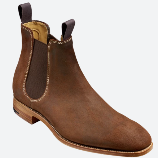 ID8598-Barker Mansfield Brown Wax Chelsea Boot