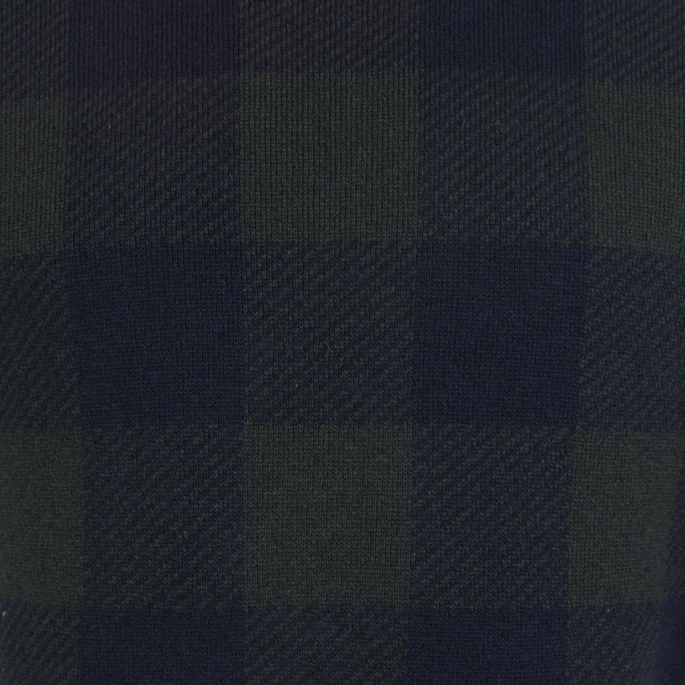 Barbour Buffalo Navy Green Knitwear