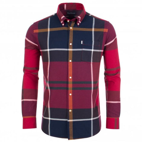 ID6266-Barbour Red Dunoon Shirt