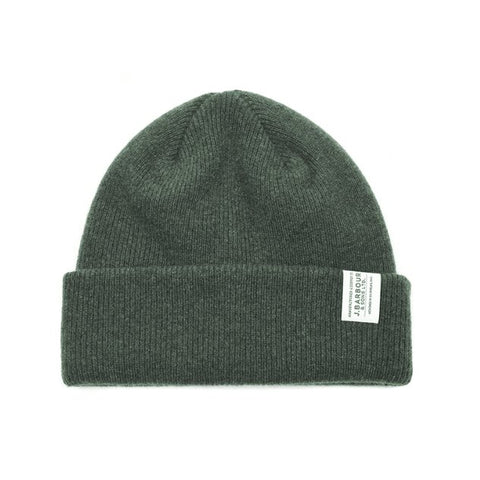 Barbour Lambswool Olive Beanie.