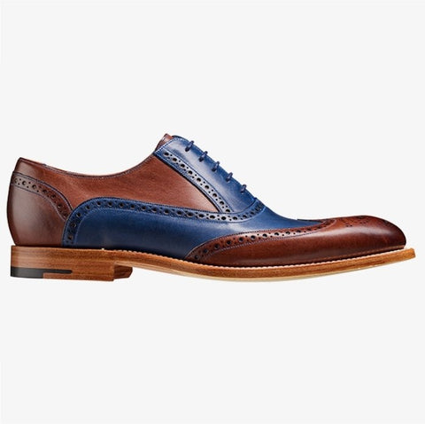Barker Valiant Navy Ebony Hand Painted Brogue