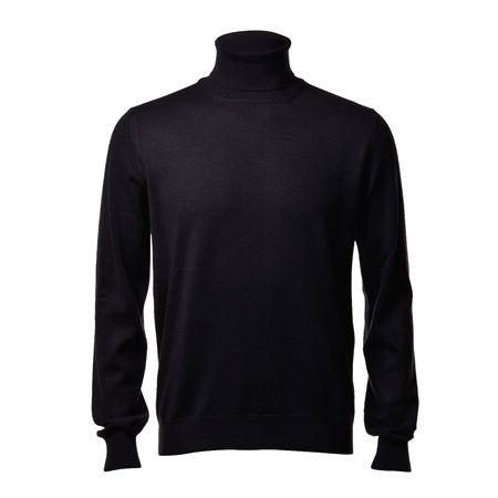 Gran Sasso Black Polo Neck-6413