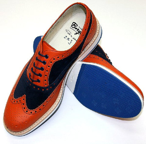 Borgioli Orange/Blue Brogue