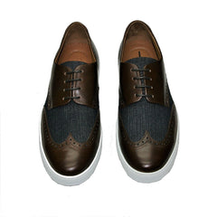 Carlos Santos Brown Brogue Trainer 3421 Was £189