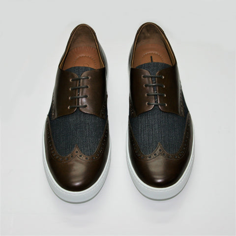 Carlos Santos Brown Brogue Trainer