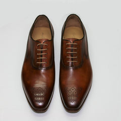 Carlos Santos Goodyear Welted Brown Shoe