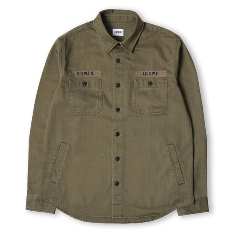 Edwin Green Labour Shirt 4094