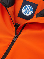ID20475-North Sails Hobart Orange Padded Softshell