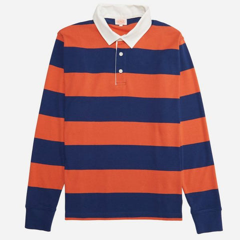 Armor Lux Rugger Polo Orange Sweatshirt