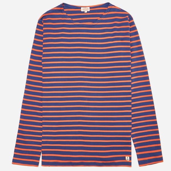 Armor Lux Orange & Blue Long Sleeve T-Shirt