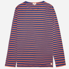 ID6390-Armor Lux Orange & Blue Long Sleeve T-Shirt