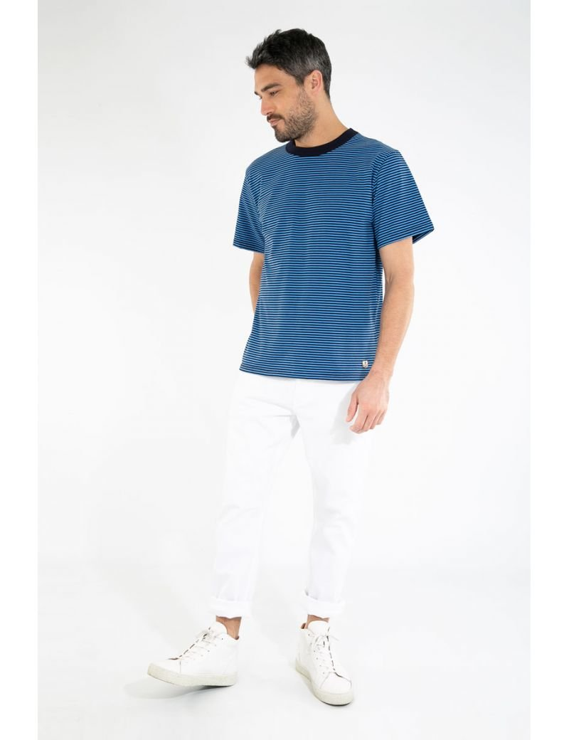 ID10081-Armor Lux Neat Hoop Blue T-Shirt