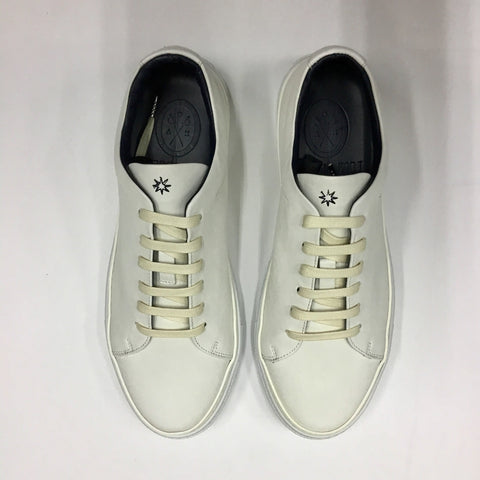 Andrea Zori Off White Leather Trainer 3412