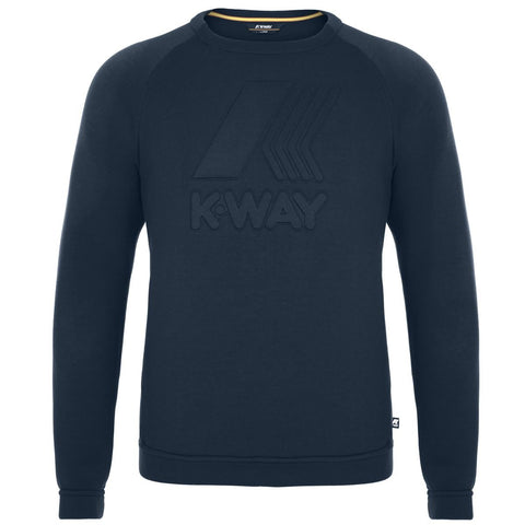 K-Way Augustine Navy Logo Sweatshirt