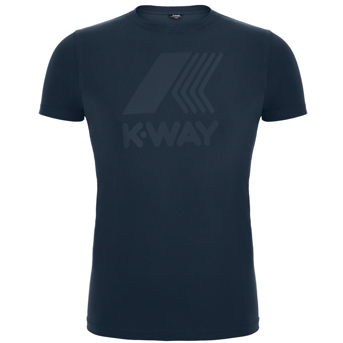 K-Way Blue Delph Logo T-Shirt-6517