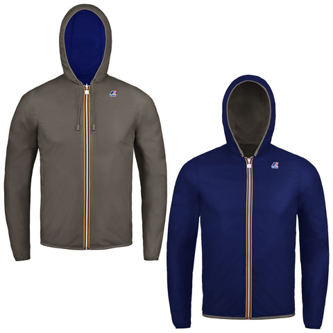 K-Way Brown Blue Jacques plus Reversible Jacket