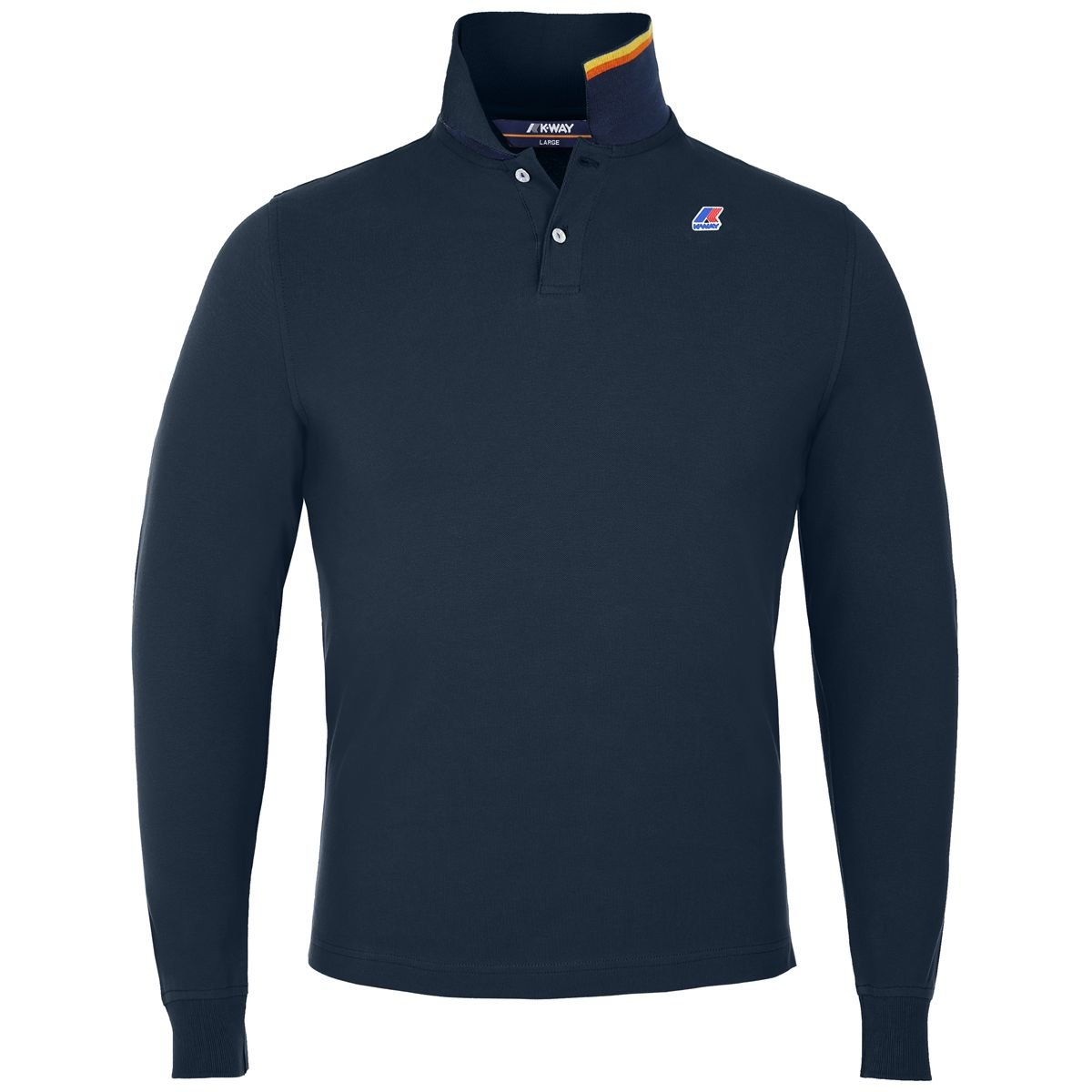 K-Way Blue Delph Rochelle L/S Polo-Shirt