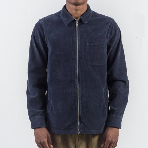 Portuguese Flannel Navy Corduroy Overshirt