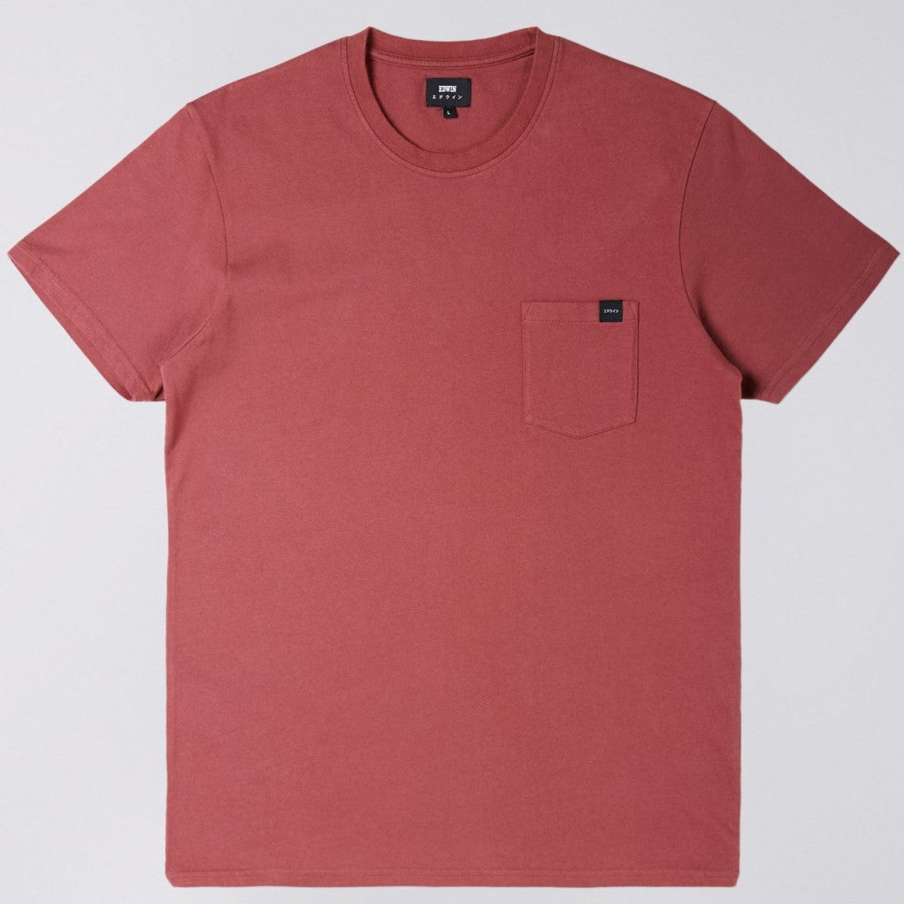 Edwin Oxblood Pocket T-Shirt 6339