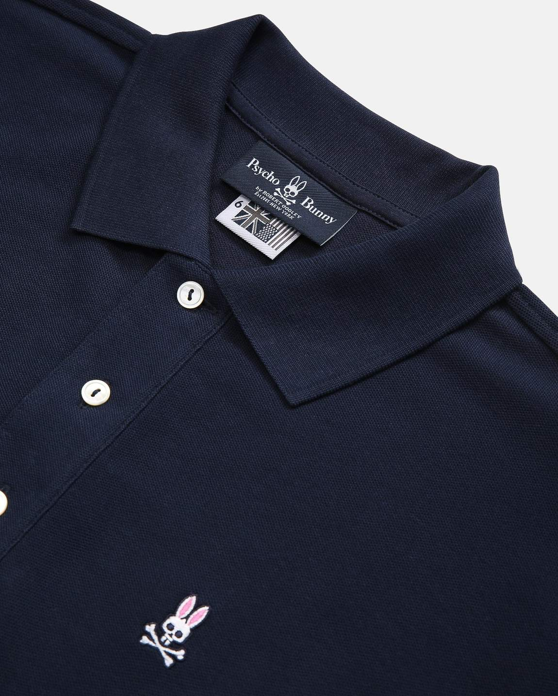 Psycho Bunny Navy Long Sleeve Polo-Shirt-6547
