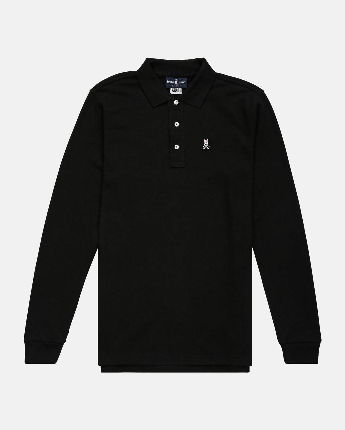 Psycho Bunny Black Long Sleeve Polo-Shirt-6546