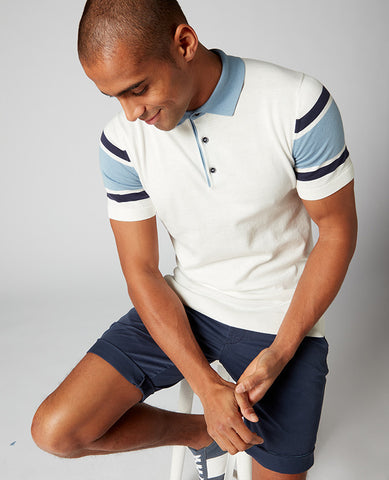 ID10299-Remus Stripe Sleeve Polo T