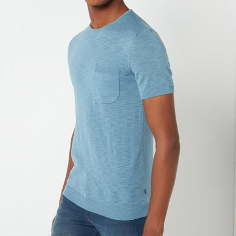 Remus Uomo Knit Blue T-Shirt