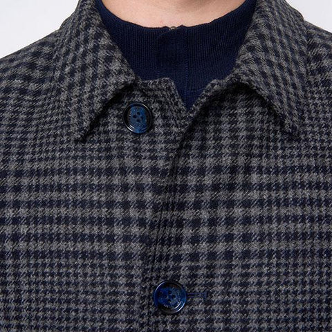 Remus Uomo Rowan Big Check Overcoat