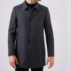 ID6039-Remus Uomo Rowan Big Check Overcoat