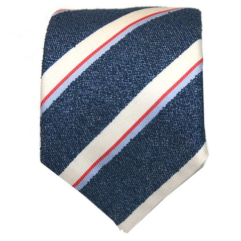 Silvio Fiorello Blue Stripe Silk Cotton