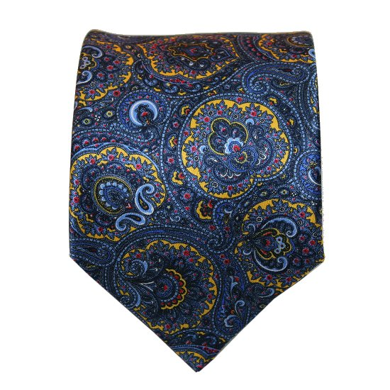 Silvio Fiorello Blue Yellow Paisley