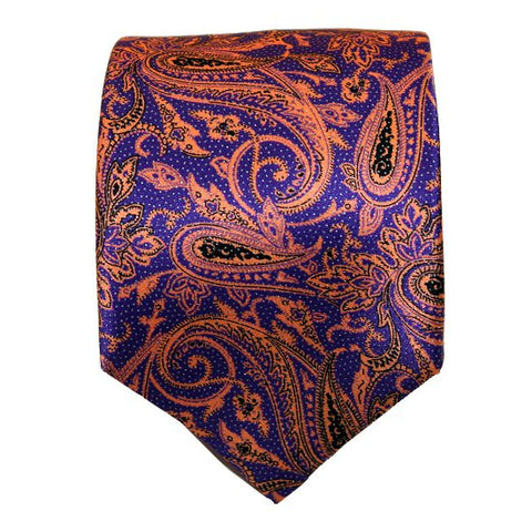 Silvio Fiorello Purple Orange Paisley